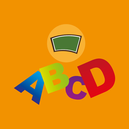 blackboard school icon alphabet vector illustration Illustration