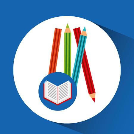 concept school book colors vector illustration