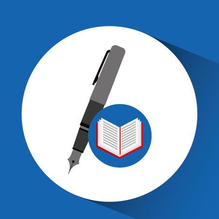 concept school book pen vector illustration
