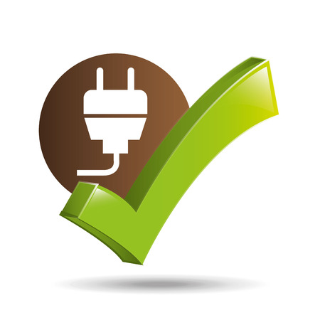 ecology concept with energy plug vector illustration