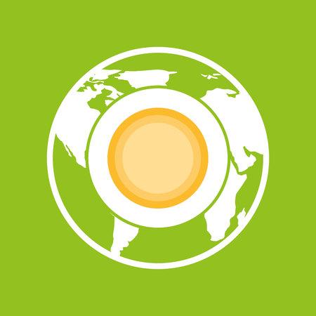 environment globe warming icon graphic vector