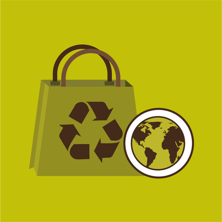 world recycling bag design graphic vector illustration