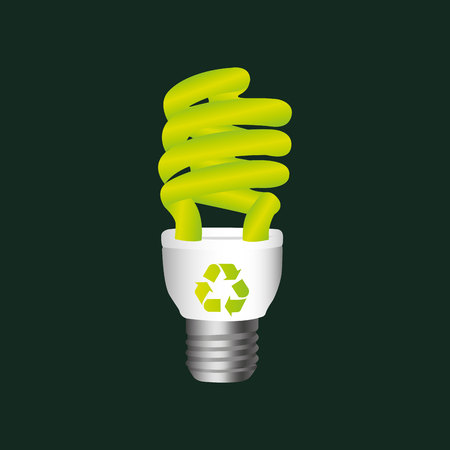 recycle symbol eco bulb design vector