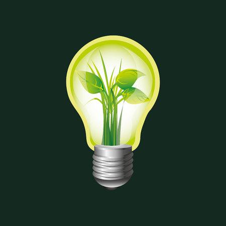educacion ambiental: entorno ecológico Libro planta de bulbo de gráficos vectoriales