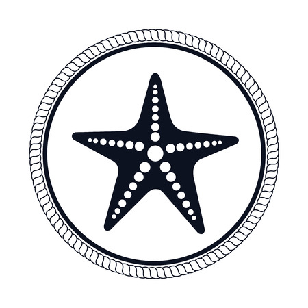 star fish: star fish emblem isolated vector illustration design