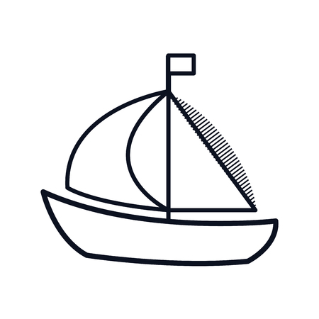 maritime: sailboat maritime frame icon vector illustration design