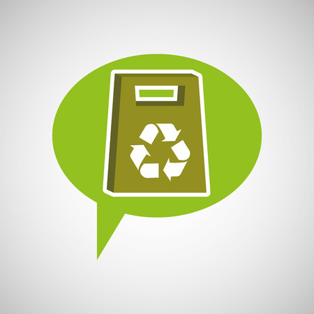 paperboard: symbol recycle paperboard bag design vector illustration Illustration