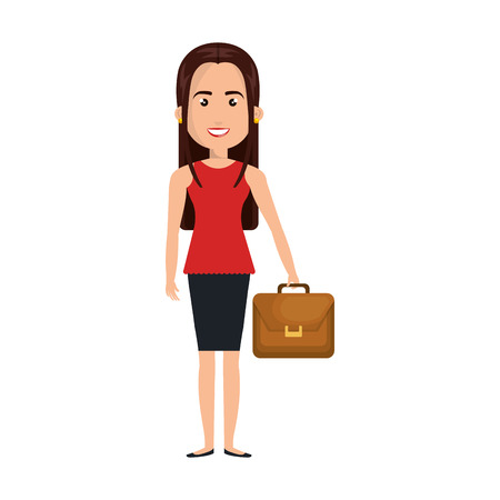 businesswoman character isolated icon vector illustration design