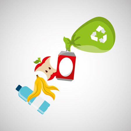 recycling: concept recycling process trash