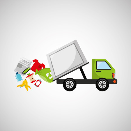 garbage truck: garbage truck recycle icon design vector illustration Illustration