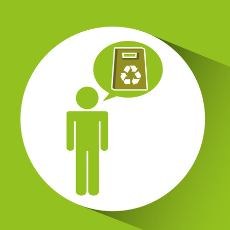 symbol recycle paperboard bag design vector