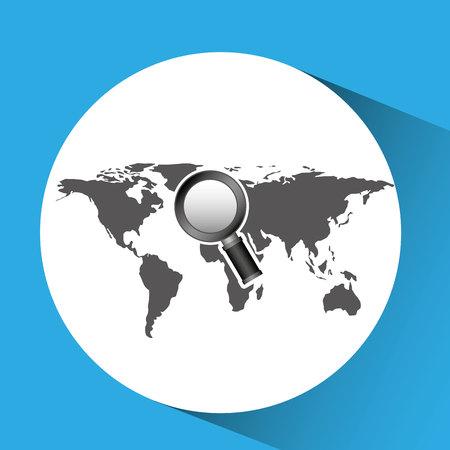 concept globe browser social media vector illustration