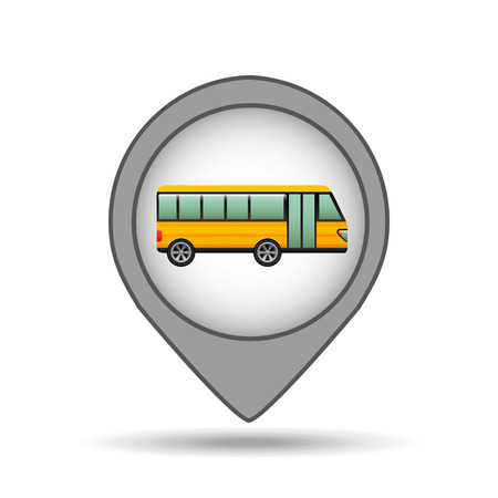 schoolbus: school bus yellow map pointer design vector illustration Illustration