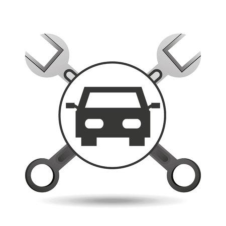concept repair car tools icons vector illustration Ilustrace