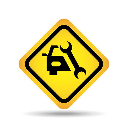 traffic sign concept icon support car tool vector illustration Illustration