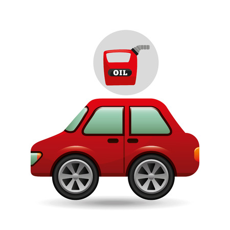 benzin: car gallon oil red icon vector illustration Illustration
