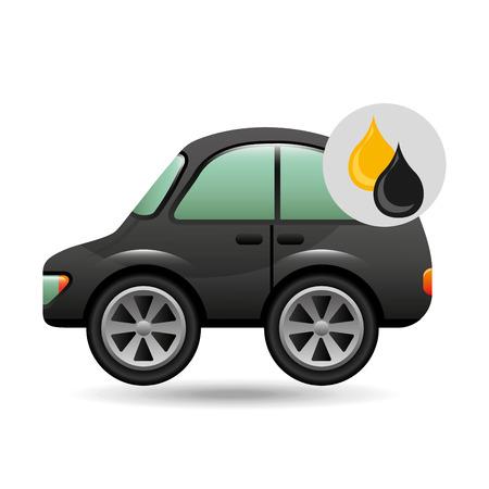 coupe car gasoline oil icon vector illustration 일러스트