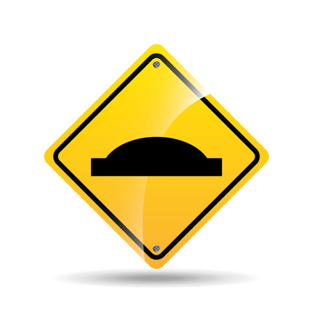 danger ahead: road sign uneven icon design vector illustration