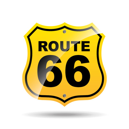 road sign route 66 icon vector illustration Illustration