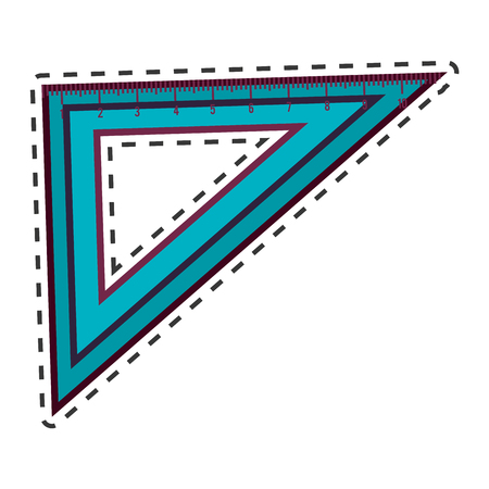 setsquare: rule school supply icon vector illustration design Illustration