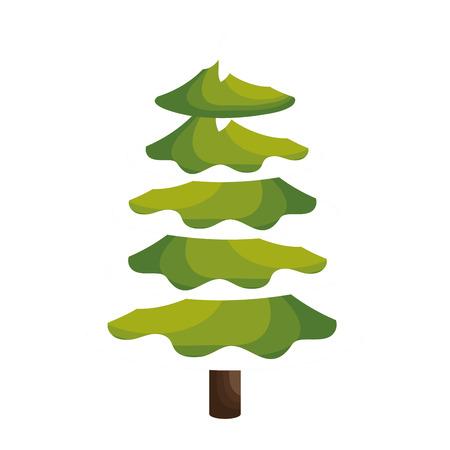 christmas tree illustration: merry christmas tree celebration vector illustration design