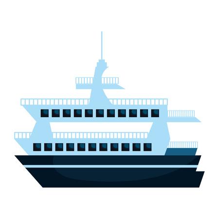 Kreuzfahrtschiff Silhouette isoliert Symbol Vektor-Illustration, Design,