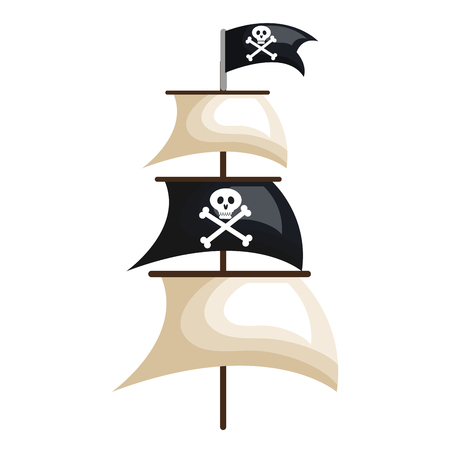 historical ship: pirate ship isolated icon vector illustration design