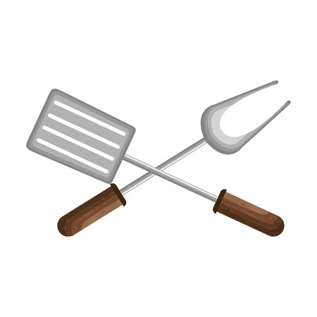 grill cutlery isolated icon vector illustration design