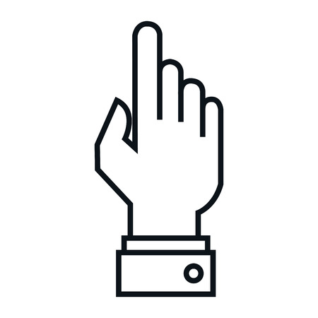 human touch: hand human touch isolated icon vector illustration design Illustration