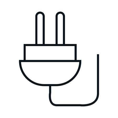 plug adapter: plug energy isolated icon vector illustration design