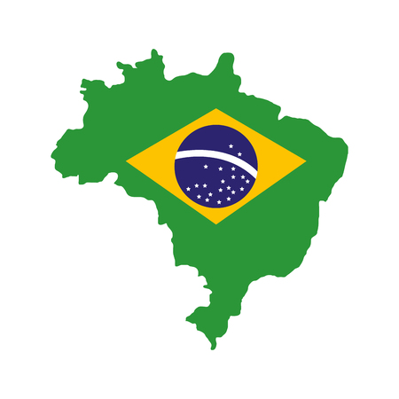 geography: brazil map geography isolated icon vector illustration design