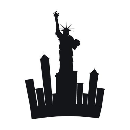 liberty statue: liberty statue new york city vector illustration design