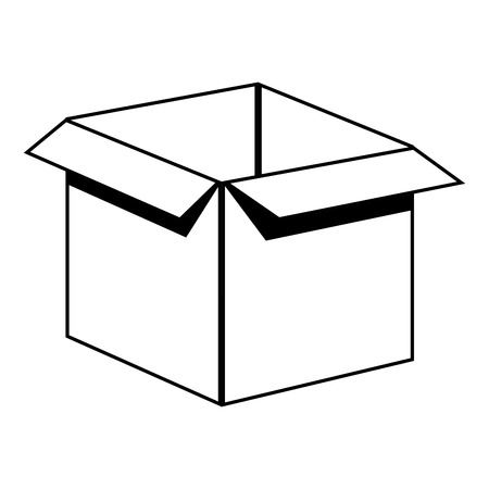 corrugated box: box carton packing icon vector illustration design