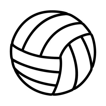 balon de voley: volleyball balloon sport icon vector illustration design Vectores