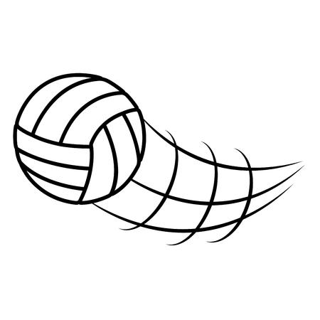 balon voleibol: con balón de voleibol deporte icónico diseño del vector