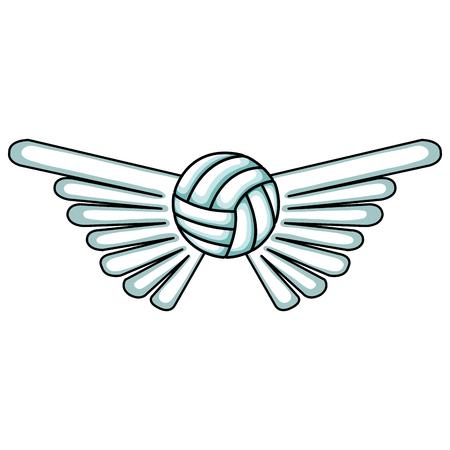 balon de voley: con balón de voleibol deporte icónico diseño del vector