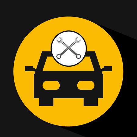 concept repair car tools icons illustration