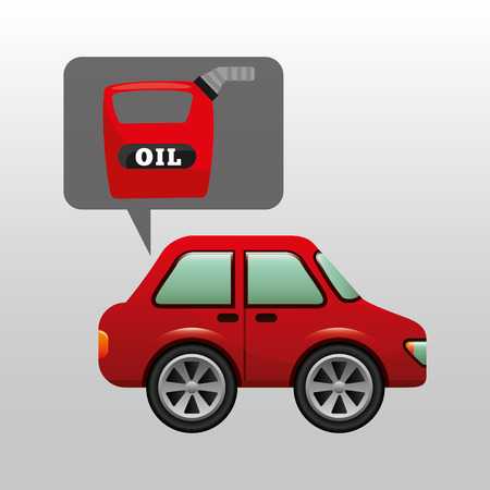 combustible: car gallon oil red icon vector illustration Illustration