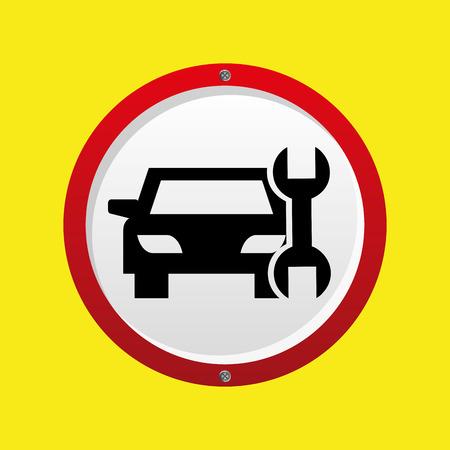 insurance car support tool graphic vector illustration Illustration
