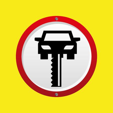 gift accident: insurance car key security design vector illustration
