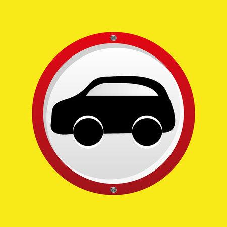 insurance car silhouette vector illustration Illustration