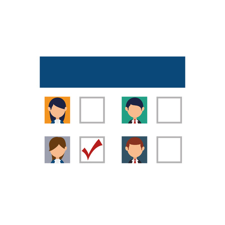balloting: Democratic election card icon vector illustration design