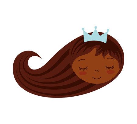 cute princess character icon vector illustration design