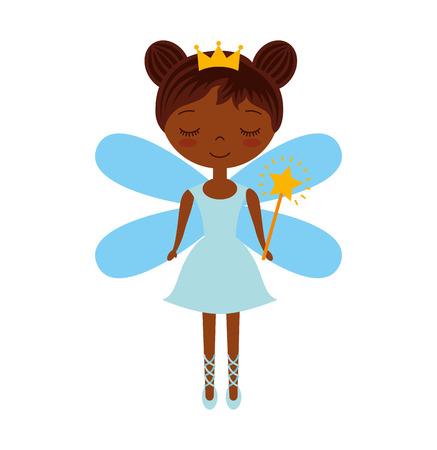 cute Fairy Godmother character vector illustration design Illustration