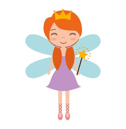 godmother: cute Fairy Godmother character vector illustration design Illustration