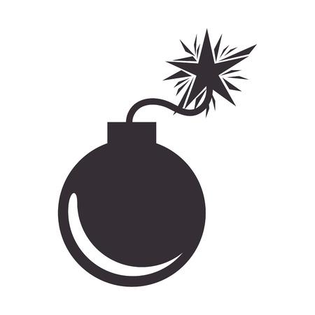 heavy risk: boom danger isolated icon vector illustration design