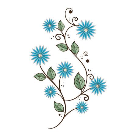 mooie bloem decoratie-kaart vectorillustratieontwerp