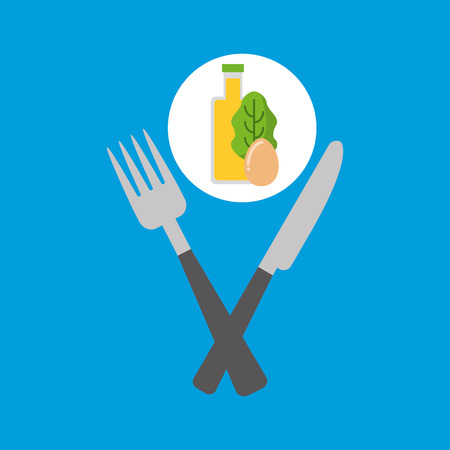 toasted: food fresh egg lettuce juice vector illustration