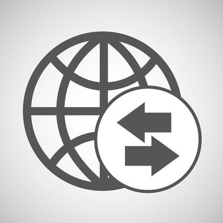 technology globe media graphic vector illustration