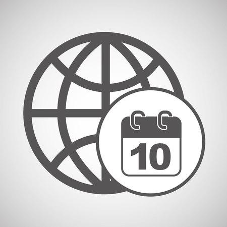 global digital calendar network design vector illustration